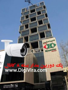 پکیج دوربین مدار بسته 8 کانال تحت شبکه IP