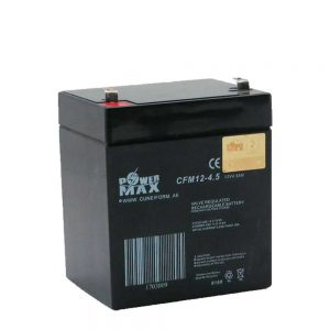 باتری-12-ولت-4.5 آمپر power max- باتری یو پی اس پاور مکس 12v 4.5a